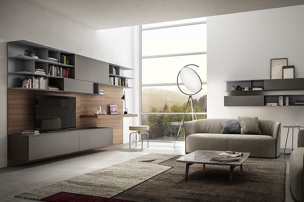 Zona Living moderno Arredo2ì3 a Catania